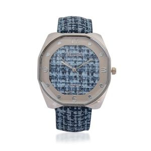 4 FOR $20 STRADA Watch Basket Weave Blue Band